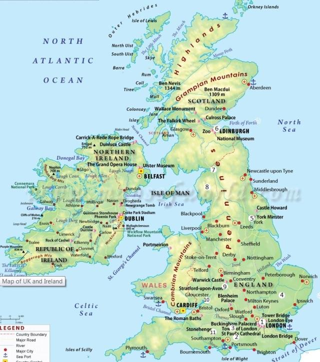 Places we'll visit