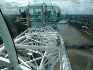 This is what a London Eye gondola looks like from the next gondola.