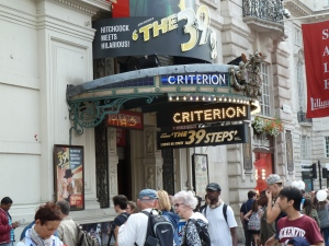 "The Criterion Theater where we saw ""The 39 Steps"""