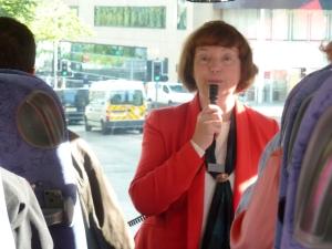 Our Edinburgh guide, Pat