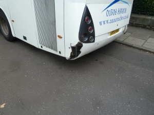 Rare bus damage