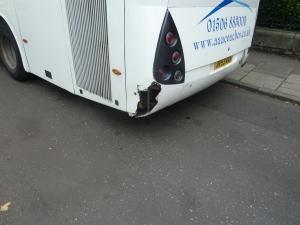 Rare bus damage