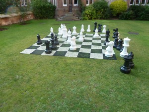 Ruthin Castle chess