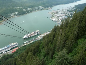 Juneau from the upper tram stop